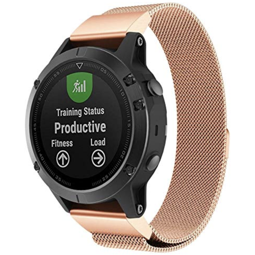 Rose Gold Milanese Loop Garmin Fenix 5 / Fenix 6 Band - OzStraps