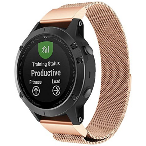 Rose Gold Milanese Loop Garmin Fenix 5 Band | OzStraps