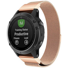 Rose Gold Milanese Loop Garmin Fenix 5 / Fenix 6 Band | OzStraps