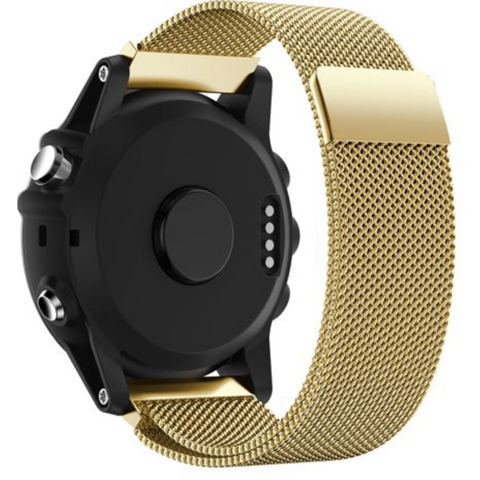 Gold Milanese Loop Garmin Fenix 5S Band | OzStraps