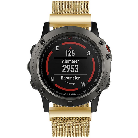 Gold Milanese Loop Garmin Fenix 5X Band | OzStraps