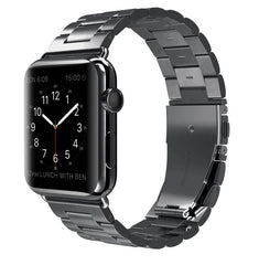 Space Grey Classic Stainless Steel Apple Watch Band | OzStraps
