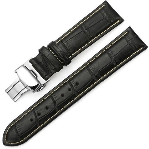 The Mayfair Black (Tan) - OzStraps