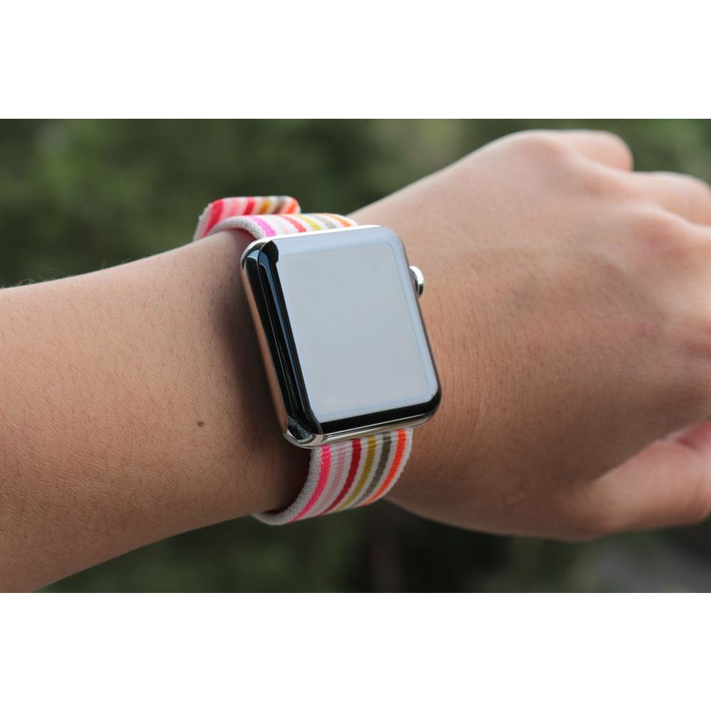 Striped & Chequered Woven Nylon Apple Watch Band - OzStraps