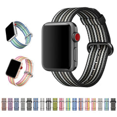 Striped & Chequered Woven Nylon Apple Watch Band | OzStraps
