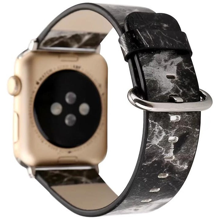 Marble Leather Apple Watch Band | OzStraps