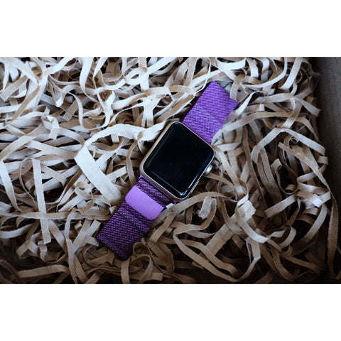 Purple Milanese Loop Apple Watch Band - OzStraps