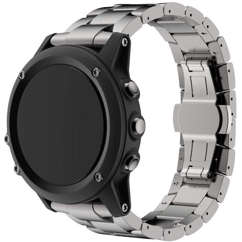 Silver Classic Stainless Steel Garmin Fenix 3/HR Band | OzStraps