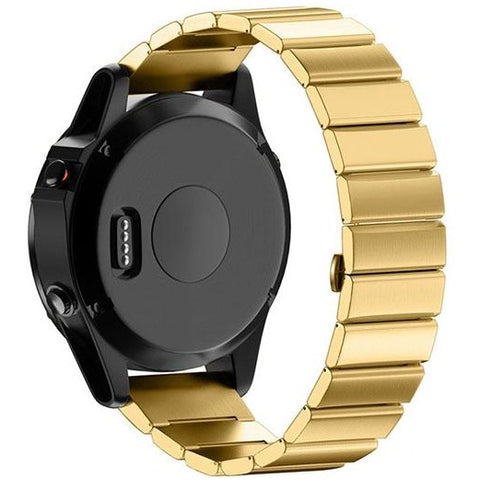 Gold Ceramic Stainless Steel Garmin Fenix 5 / Fenix 6 Band | OzStraps