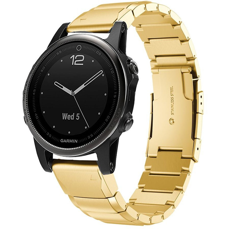 Gold Ceramic Stainless Steel Garmin Fenix 5S Band | OzStraps