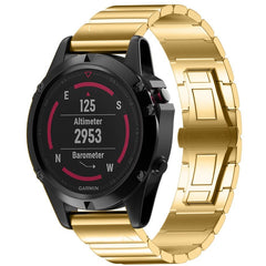 Gold Ceramic Stainless Steel Garmin Fenix 5X / Fenix 6X Band | OzStraps