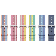 3 Stripe Woven Nylon Apple Watch Band - OzStraps