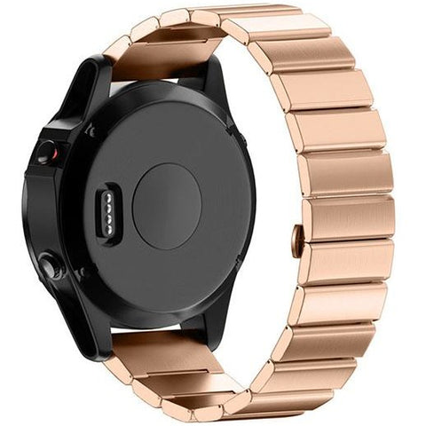 Rose Gold Ceramic Stainless Steel Garmin Fenix 5 / Fenix 6 Band | OzStraps