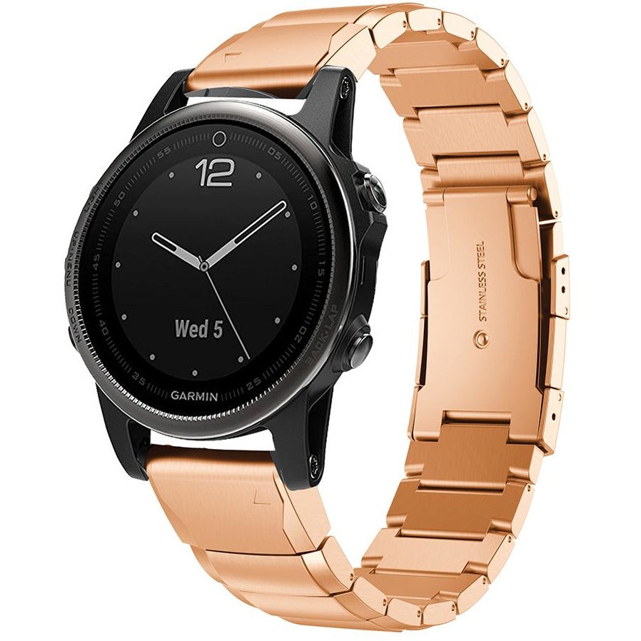 Rose Gold Ceramic Stainless Steel Garmin Fenix 5S Band | OzStraps