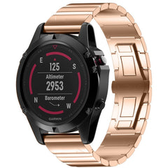 Rose Gold Ceramic Stainless Steel Garmin Fenix 5X / Fenix 6X Band | OzStraps