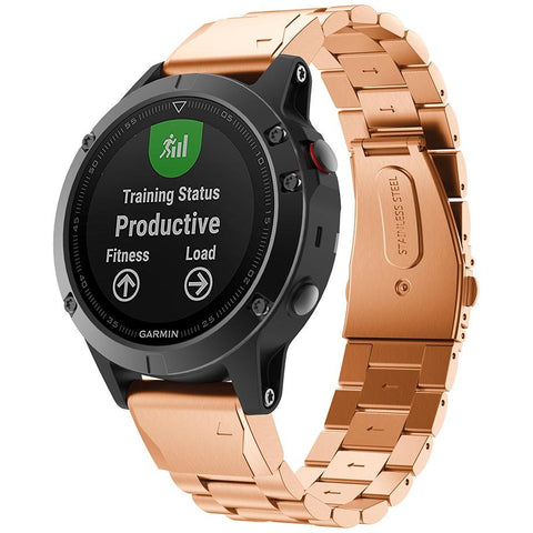 Rose Gold Classic Stainless Steel Garmin Fenix 5 Band | OzStraps