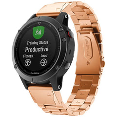 Rose Gold Classic Stainless Steel Garmin Fenix 5 / Fenix 6 Band | OzStraps