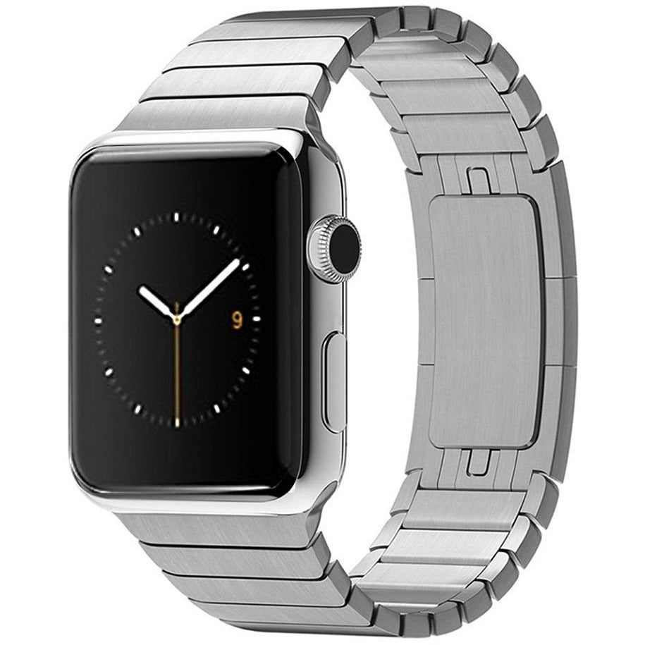 Silver Ceramic Stainless Steel Apple Watch Band | OzStraps