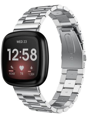 Classic Stainless Steel Fitbit Versa 3 / Sense Band