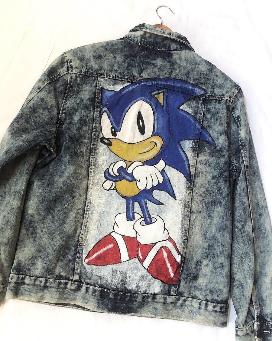 Men's Sonic the Hedgehog distressed jacket
