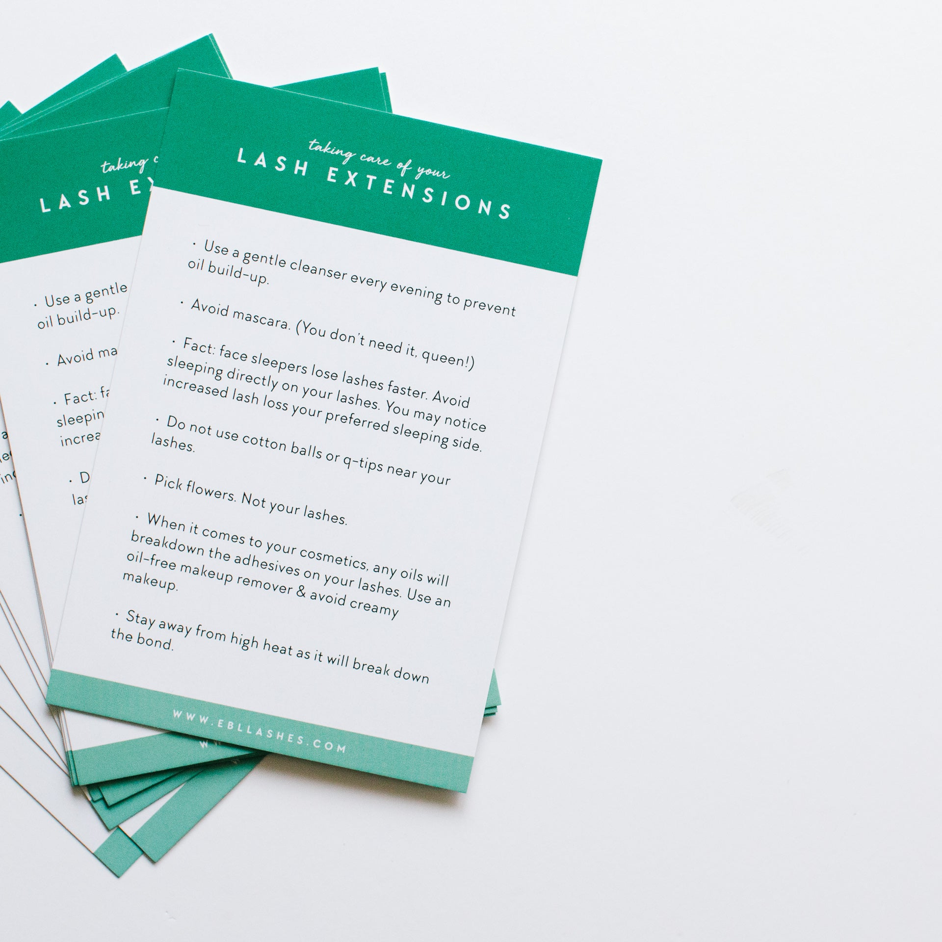 Client Aftercare Cards | Set of 50