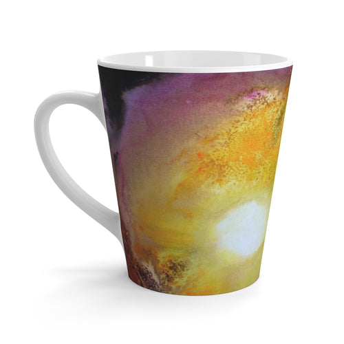 Artsy Sun Colorful Coffee LATTE MUG 12 oz Watercolor Art