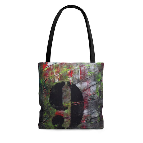 Edgy Number 9 TOTE BAG Urban Modern Abstract Style