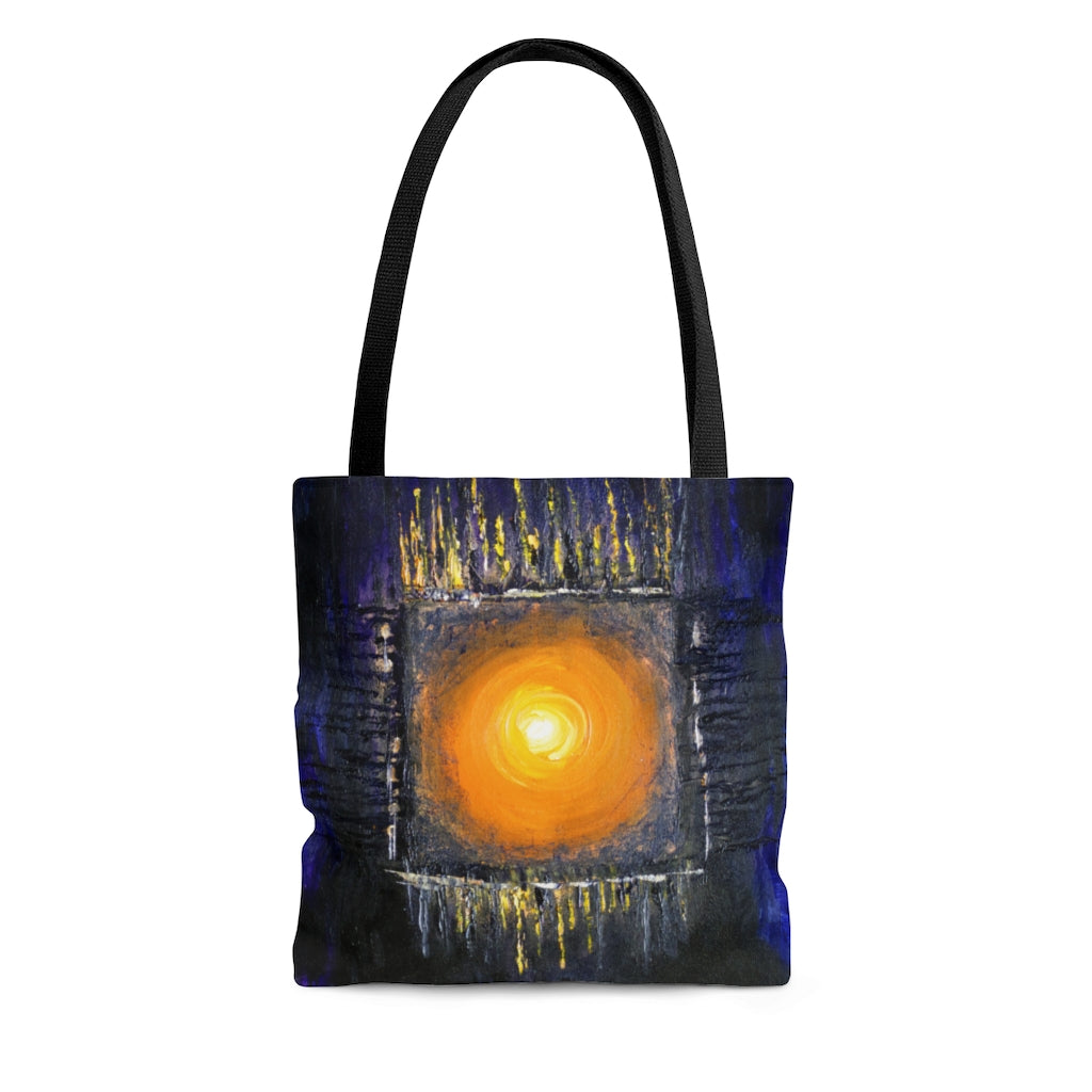 Powerful Sun Art TOTE BAG Modern Abstract Style