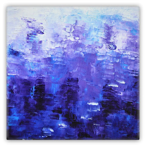 Abstract Indigo Blue Metal Art Magnet 2x2 square #1022