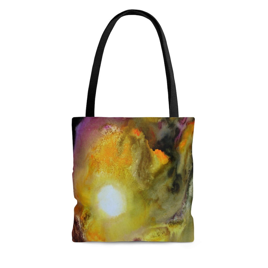 Artsy Colorful TOTE BAG multicolored abstract watercolor art