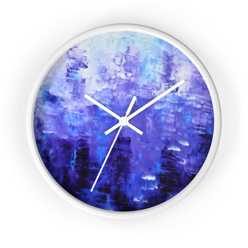 Blue Artsy WALL CLOCK Abstract Art Unique Accent