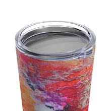 Colorful Heart TUMBLER with lid 20 oz for Coffee or Tea Travel Mug