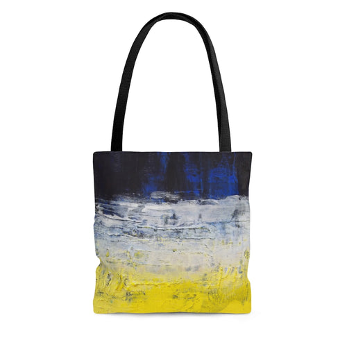 Streetwear Style TOTE BAG Blue Yellow Modern Abstract
