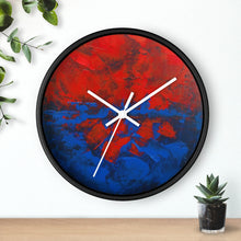 Red White and Blue WALL CLOCK Artsy Abstract Style