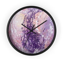 Purple Art WALL CLOCK Multicolored Abstract Style