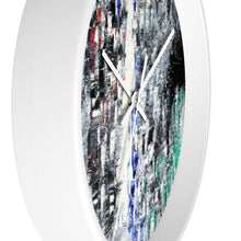 Black and White Abstract WALL CLOCK Cool B&W Home Decor