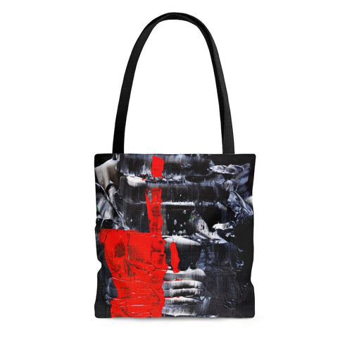 Red and Black and White TOTE BAG Cool Abstract Streetwear Style