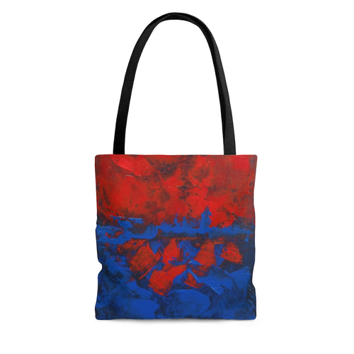 Red and Blue Abstract TOTE BAG printed Cool Modern Style