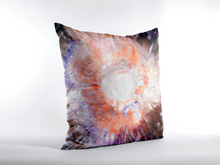 Artsy Multicolored THROW PILLOW Unique Abstract Style Brown Orange