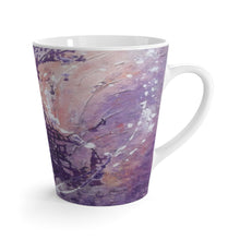 12 oz Coffee LATTE MUG in Purple Pastels printed from Original Art