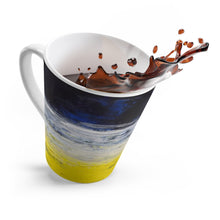 Yellow White Blue Coffee LATTE MUG Urban Grunge Edgy Style