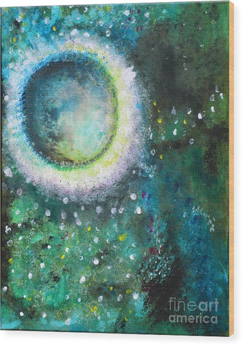 Crystal Moon - Wood Print #1033