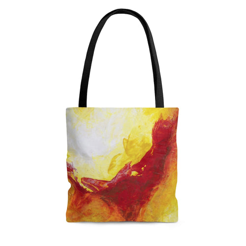 Colorful TOTE BAG Yellow Red Abstract Art Design