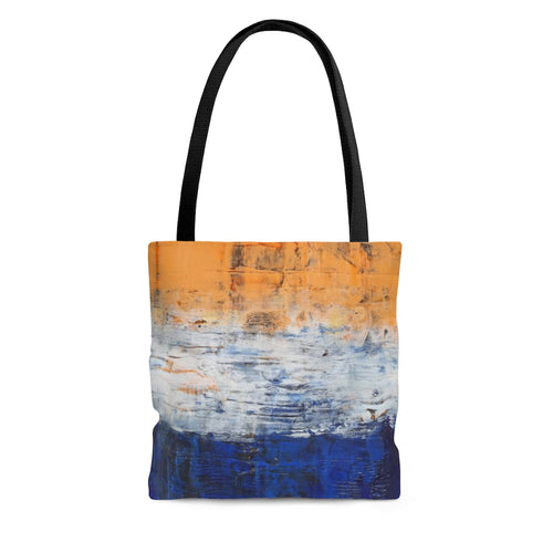Edgy TOTE BAG Grungy Streetwear Style orange blue