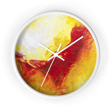 Bold Yellow Red Abstract Modern Art WALL CLOCK
