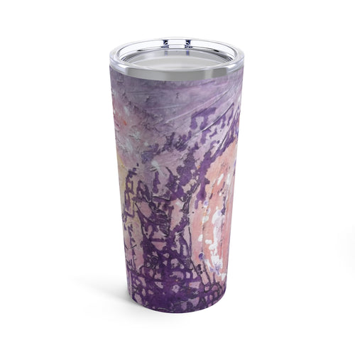 Purple Pastel TUMBLER 20oz with Lid Colorful Artsy