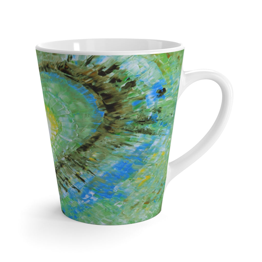Abstract Heart LATTE MUG Multicolors Artsy Modern Art Style 12oz