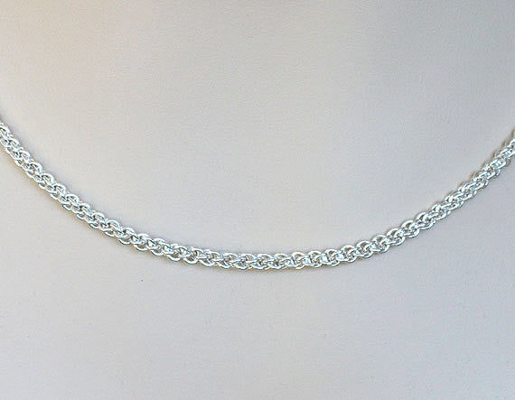Handmade JENS PINDS 925 Sterling Silver Necklace, Chainmaille Jewelry JP1