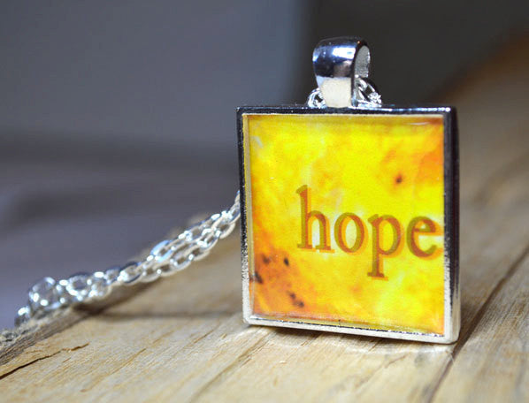 HOPE Necklace Word Art Pendant #6006