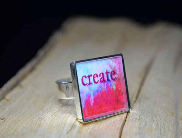 CREATE - Adjustable Handmade Resin Ring
